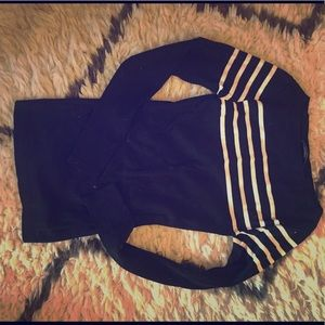 Ralph Lauren striped sweater.